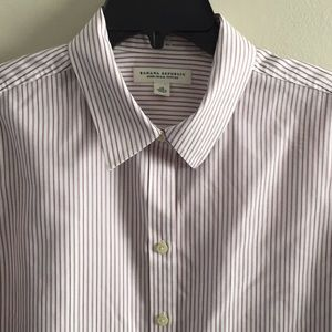 Banana Republic No Iron fitted blouse 14